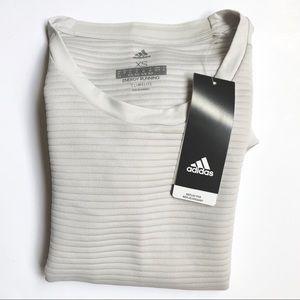 adidas | Greone Grey Reflective Running Shirt